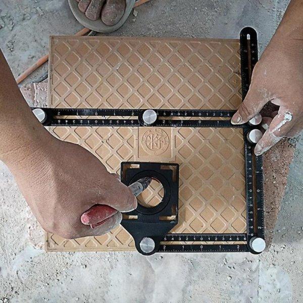 Складной шаблон для разметки и укладки плитки, ламината VKTECH
