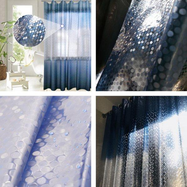 Градиентная синяя душевая занавеска от UFRIDAY