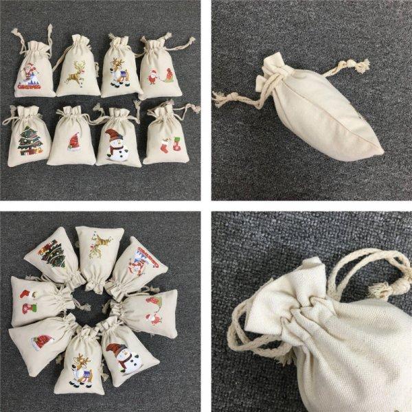 Холщовые подарочные мешочки от LUVY (8 принтов)