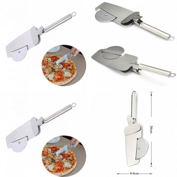 Лопатка с роликовым ножом для выпечки 2 в 1