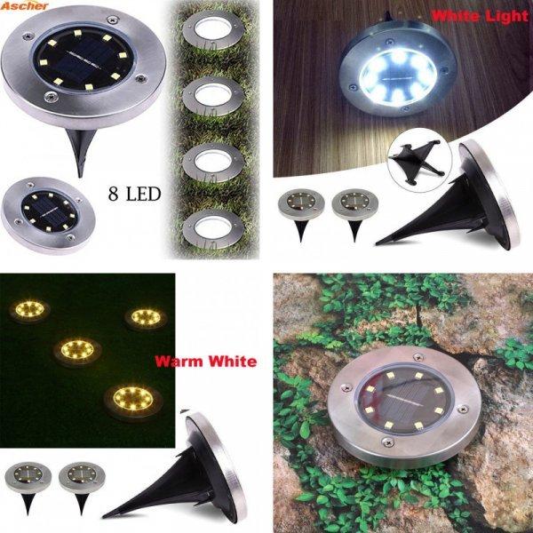 Шикарный уличный светильник для газонов и дорожек Ascher ( IP65, 8 светодиод, 6 В, 1 год гарантия)