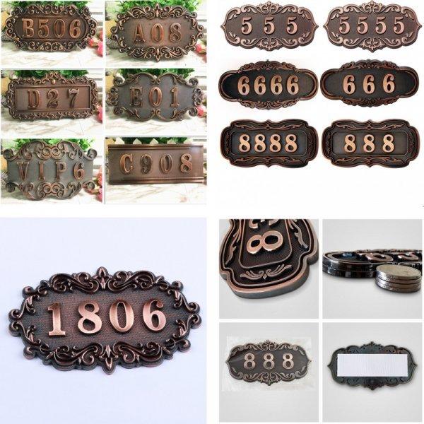 Металлическая табличка с номером от WZB (11 видов)