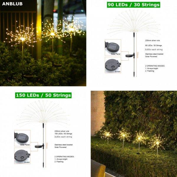 Светодиодный фонарь-одуванчик