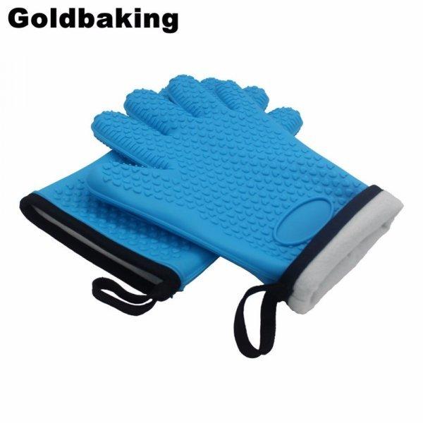 Термостойкие перчатки на кухню Goldbaking (2 ш, 4 цвета)