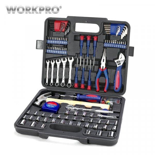 Набор нужных ручных инструментов WORKPRO в чемодане (165 шт)