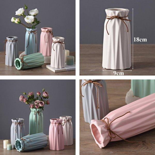 Матовые керамические вазочки от FLOWER VASE  ( 18 см, 5 цветов)