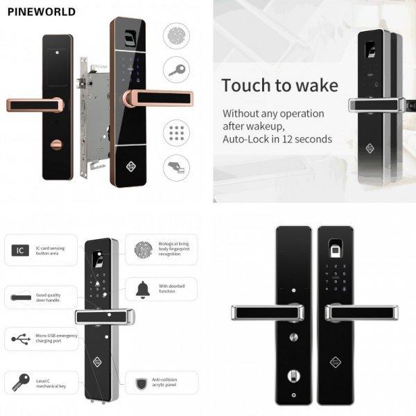 Биометрический дверной замок PINE WORLD