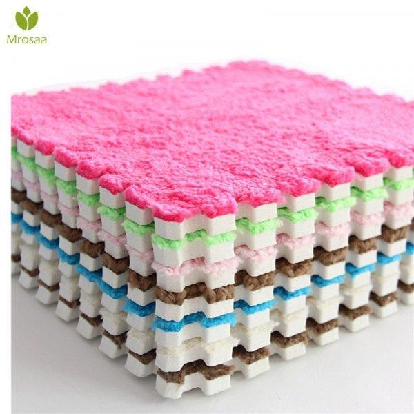 Мягкие коврика-паззлы от MROSAA (1 шт, 30*30 см, 9 цветов)