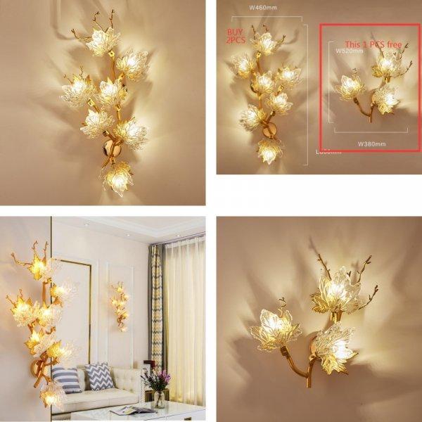 Светильник Кленовые листья от XICMIJCKAI (2 размера, 2 типа света)