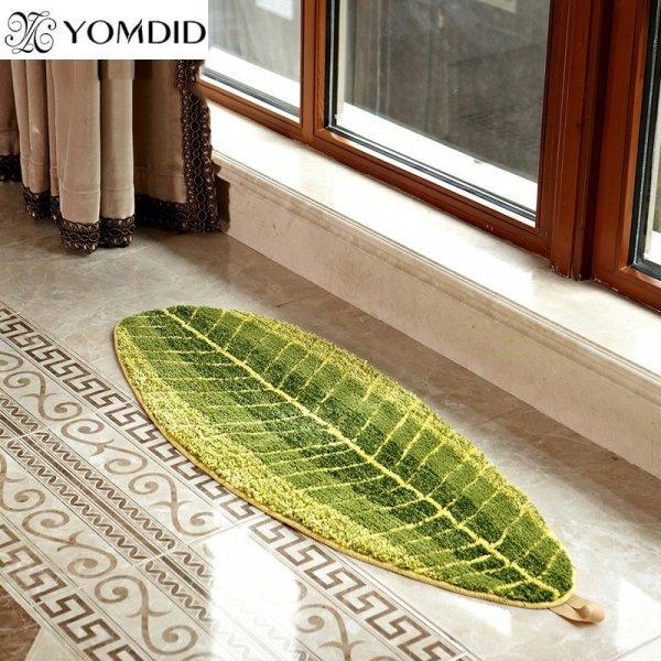 Коврик Зеленые листья от YOMDID (3 размера)