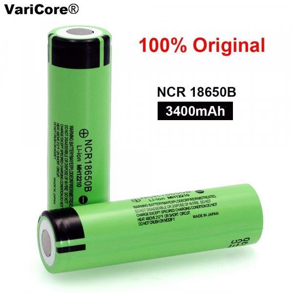 Аккумуляторы VariCore NCR18650B - огонь (3000-3400 мАч, 3,7 В, 18 мм х 65 мм)