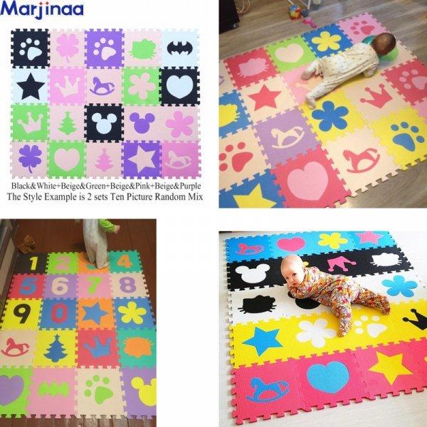 Коврик для детской от MARJINAA (10 шт, 31,6 * 31,6 см, 25 цветов)
