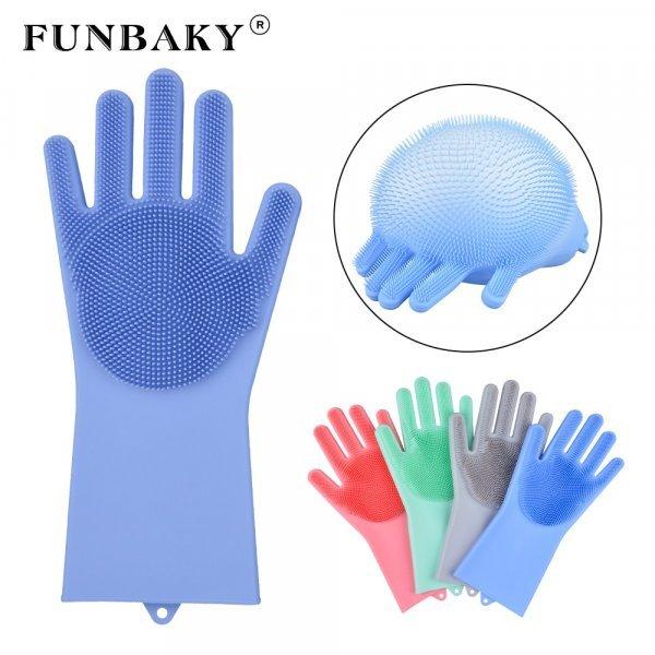 Силиконовые перчатки для уборки от A LIFE (1 пара, 8 цветов)