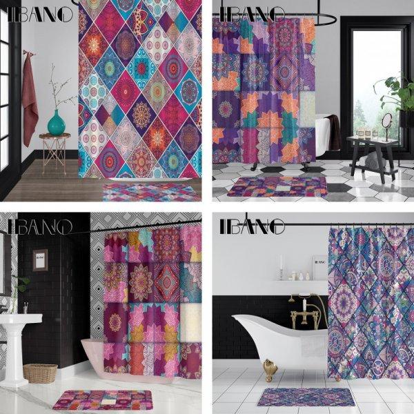 Винтажная штора для ванной IBANO (6 цветов)