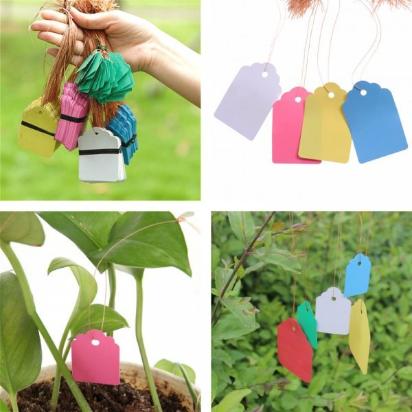 Многоразовые пластиковые бирки для маркировки растений, 50 шт.
