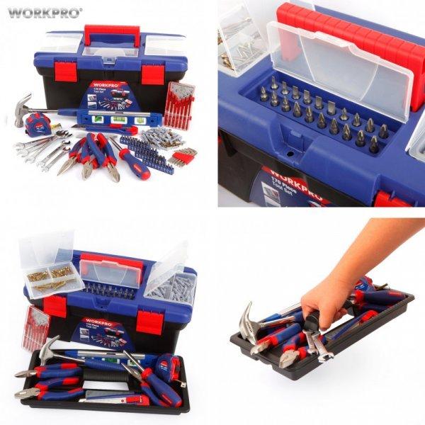Шикарный набор ручного инструмента WORKPRO  с боксом (170 шт)