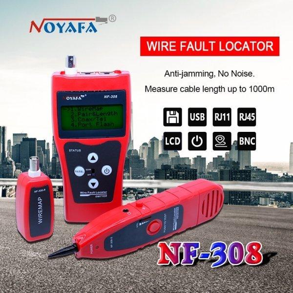 Тестер скрытой проводки с лазерным указателем NOYAFA NF-308