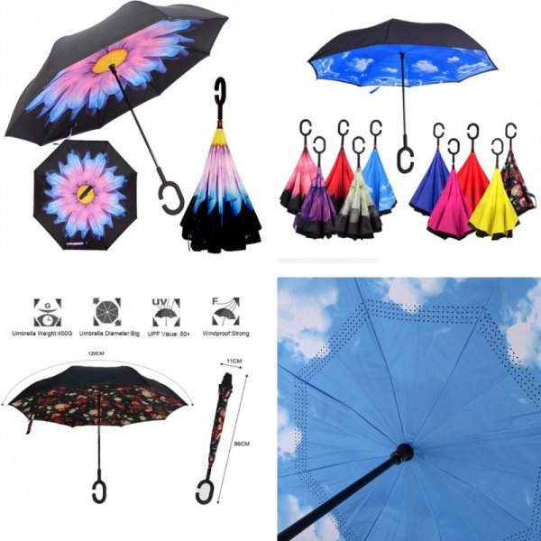 Перевернутый зонт OURUOLA (26 дизайнов)