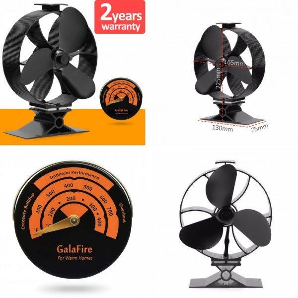 3-лопастной  вентилятор от HEAT POWERED STOVE FAN