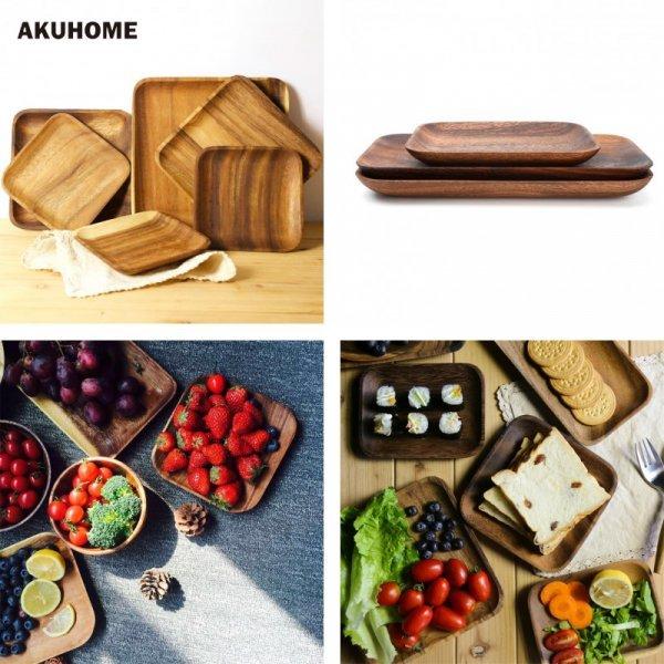 Деревянные подносы из акации от AKUHOME (8 видов)