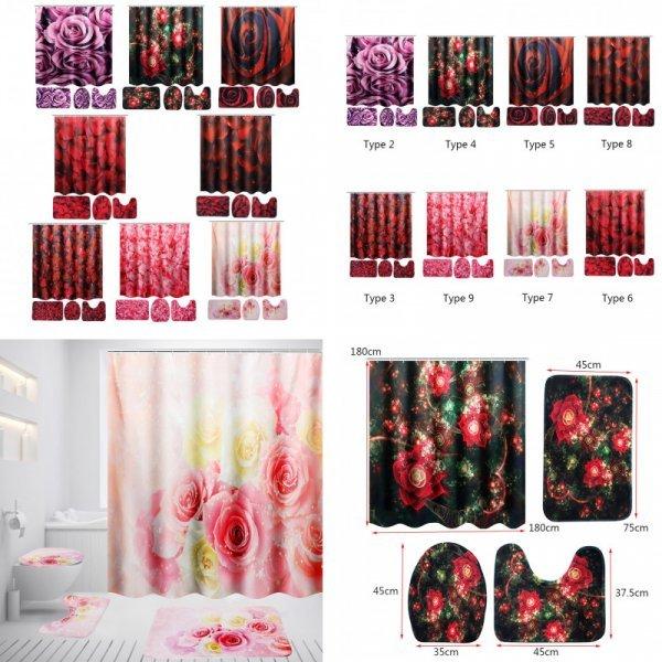 Полный набор для ванной комнаты из 4 предметов (8 расцветок)