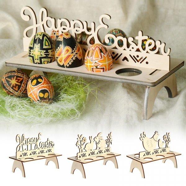 Деревянные полки для пасхальных яиц от VKTECH (3 вида)