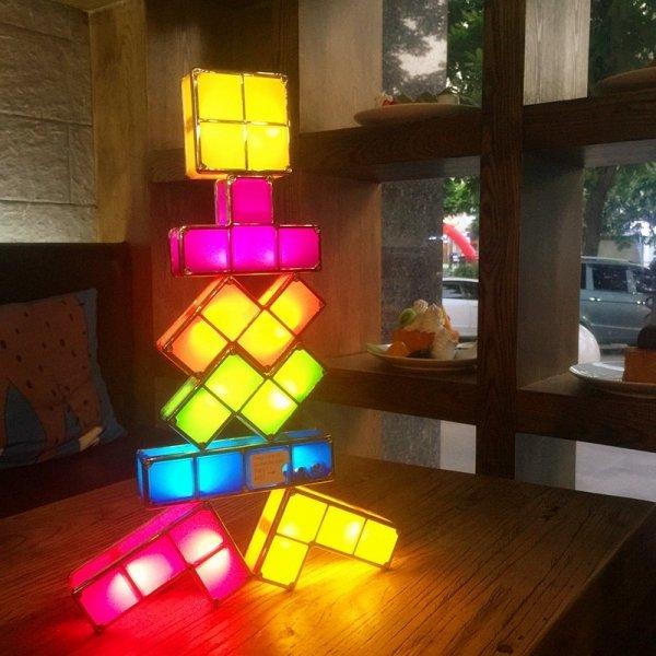 Магнитный светильник Тетрис от OLOEY (7 деталей)