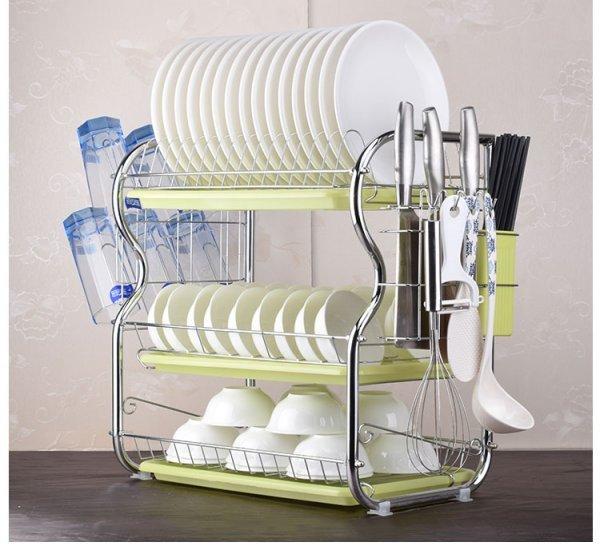 Вместительная сушилка для посуды (2-3 яруса)