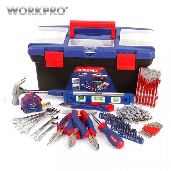 Ручной инструмент с чемоданом WORKPRO (170 шт.)