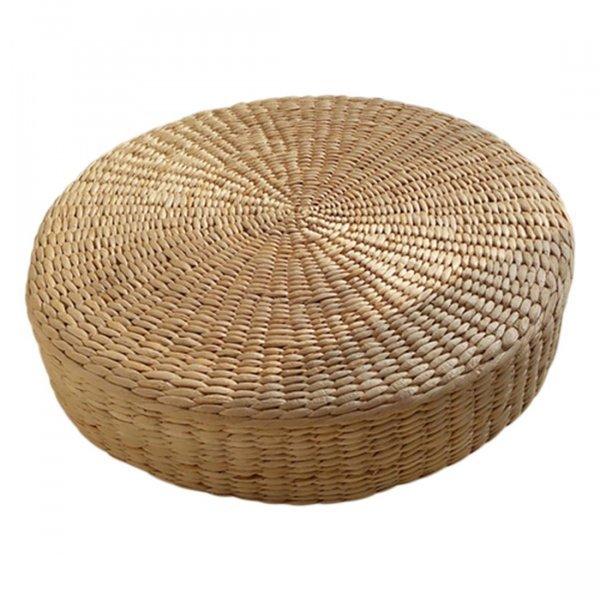 Соломенный плетеный пуфик от GOOD LIFE (40 см)