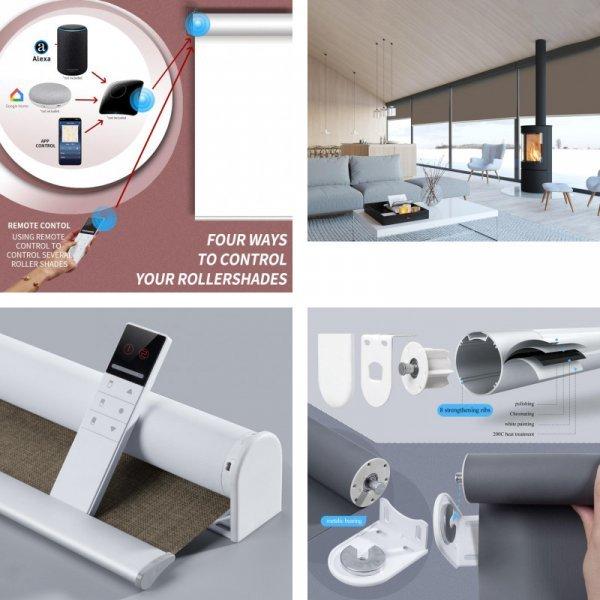Роликовые шторы с электромеханизмом (в ассортименте)