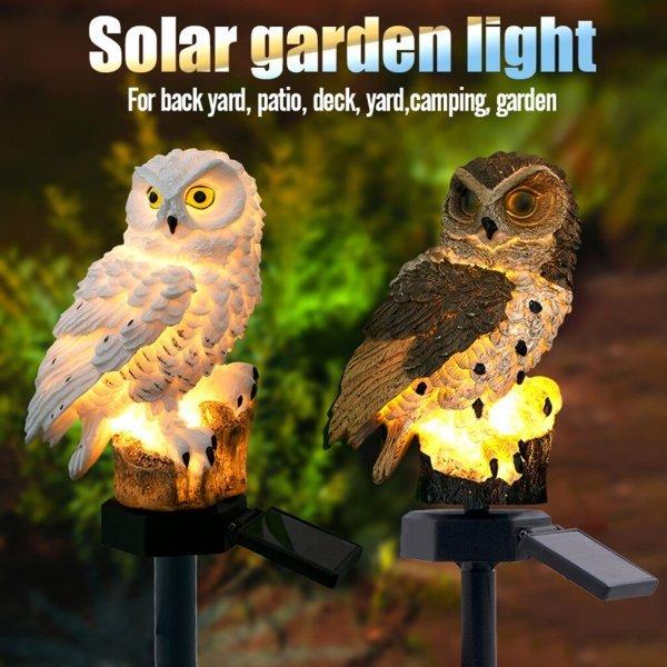 Садовый светильник Сова от MUQGEW (2 цвета)