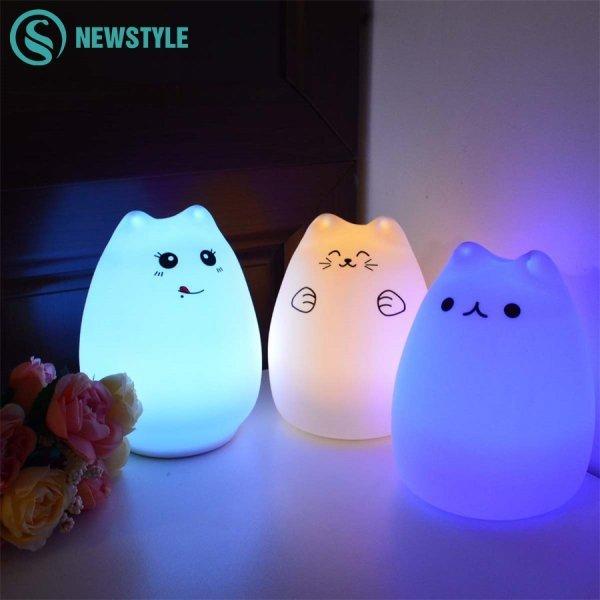 Силиконовые сенсорный светодиодный ночник от NEWSTYLE (6 видов)
