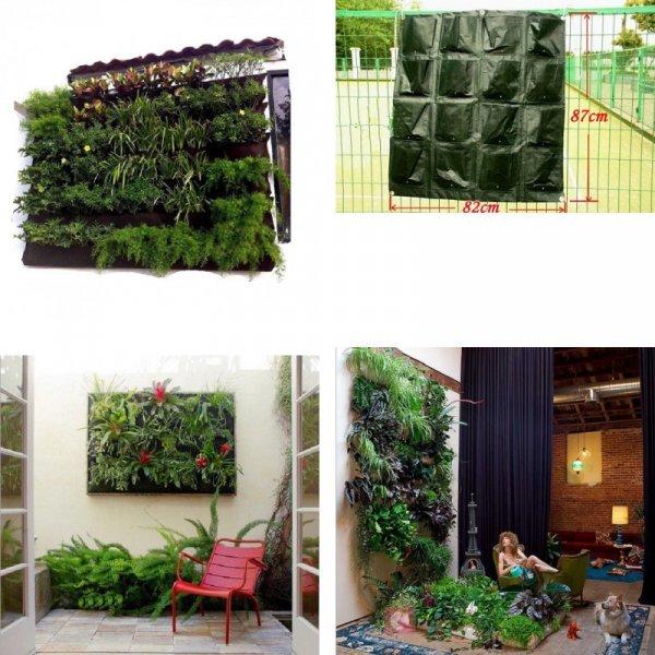 Стенд с кармашками для вертикальной посадки растений