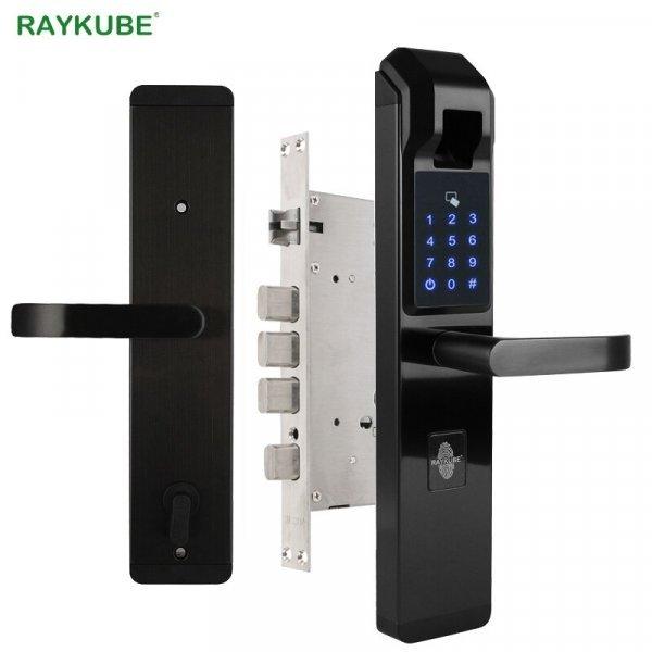 Электронный биометрический дверной замок от RAYKUBE (4 цвета)