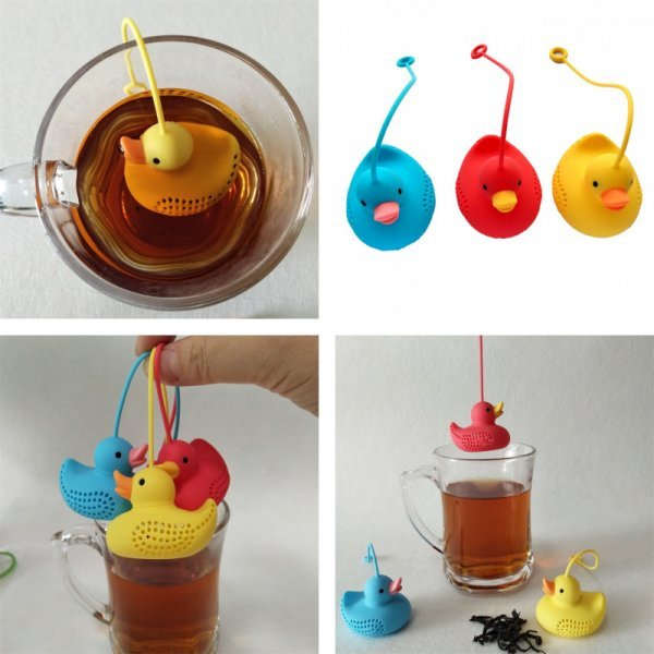 Забавный фильтр для заваривания чая (3 цвета)