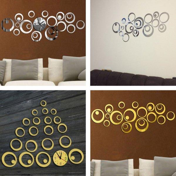 Кварцевые настенные зеркальные часы от JOID'ART (3 цвета)
