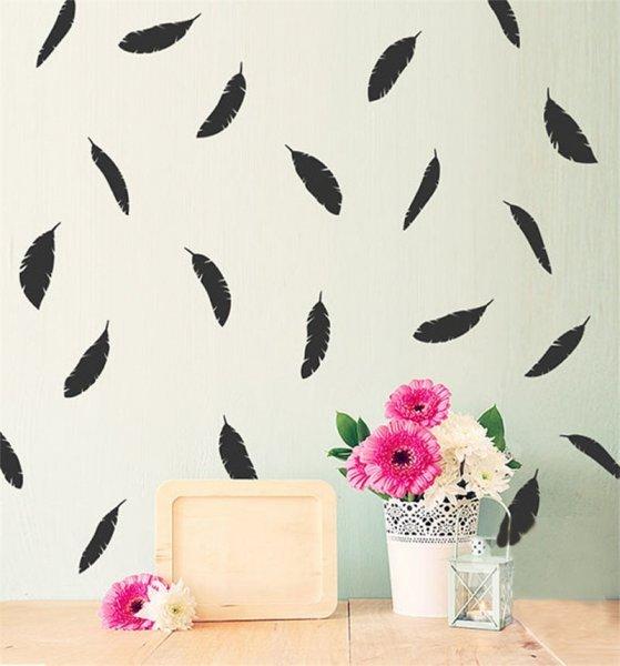 Модные наклейки на стену современной гостиной BalleenShiny (6 цветов, 12 шт)