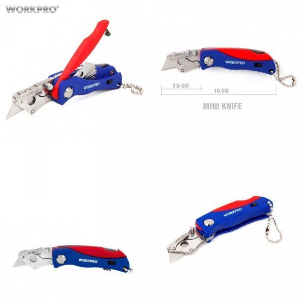 Универсальный нож с 5  сменными лезвиями WORKPRO