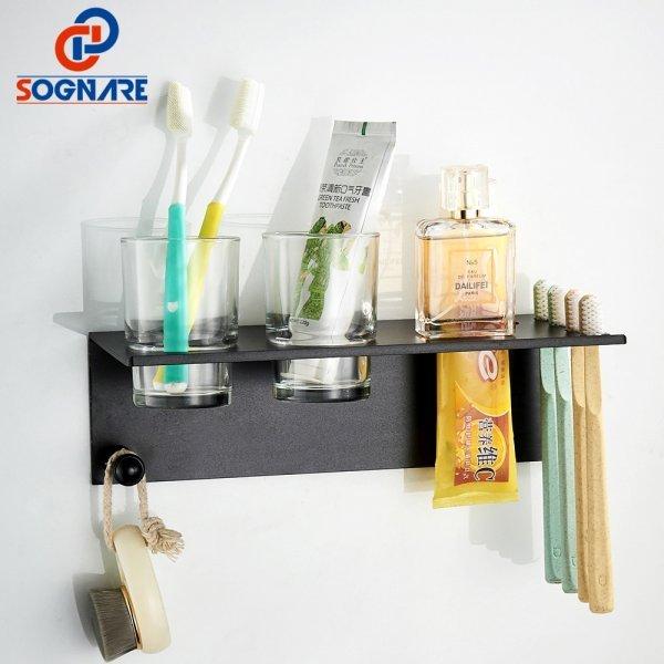Держатель зубных щеток и мелочей в ванную SOGNARE (2 цвета)