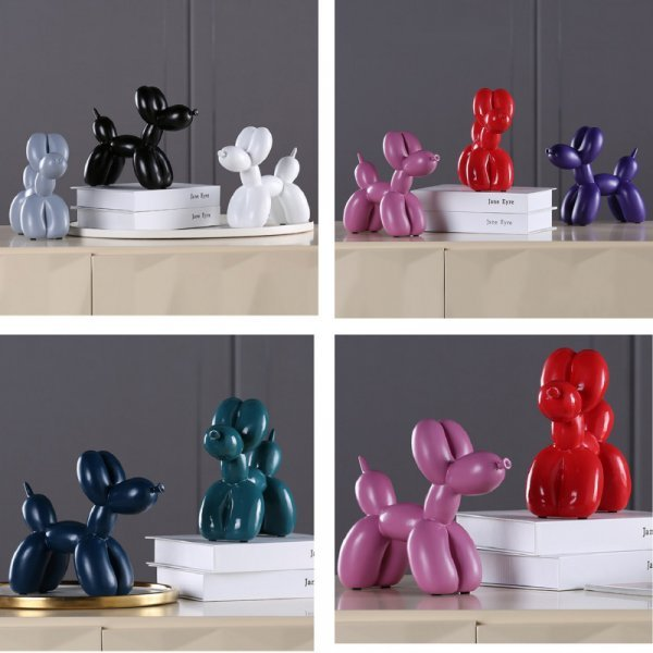 Скульптура Собачка из шарика - мило и стильно (1 шт, 8 цветов)