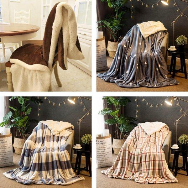 Зимнее двустороннее одеяло от ROMANTIC ART (20 цветов, 5 размеров)