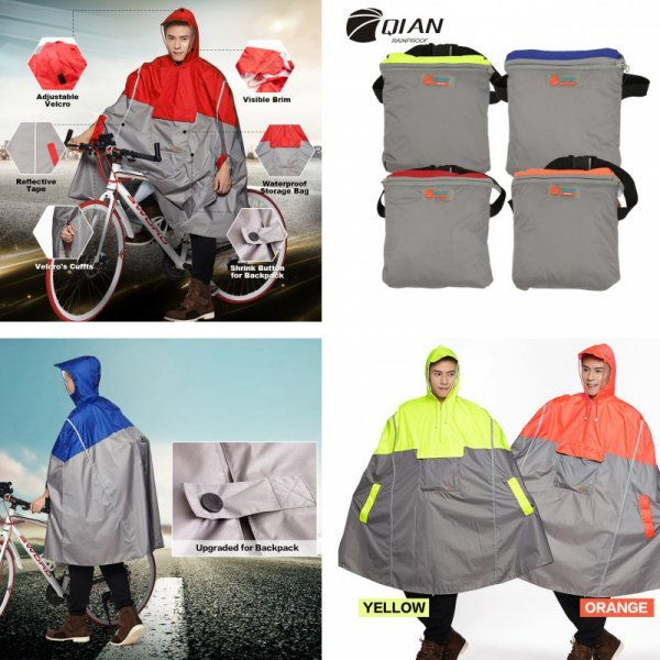 Непромокаемый дождевик QIAN (4 цвета)