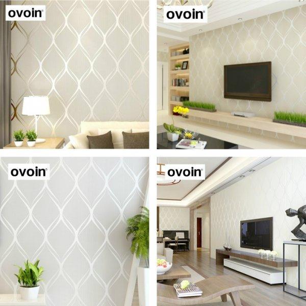 Стильные обои с геометрическим рисунком Ovoin (5.3 м.кв)