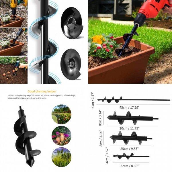 Бур-насадка,  для сада и огорода