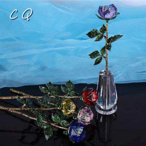 Кристальные розы от CQCRYSTAL (4 цвета)