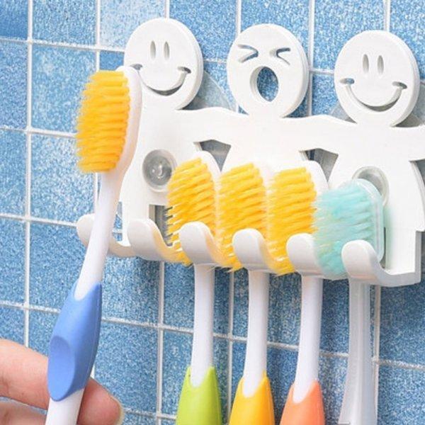 Забавный держатель зубных щеток (5 в 1)