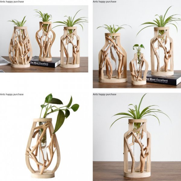 Оригинальная ваза из бамбука (8 видов)