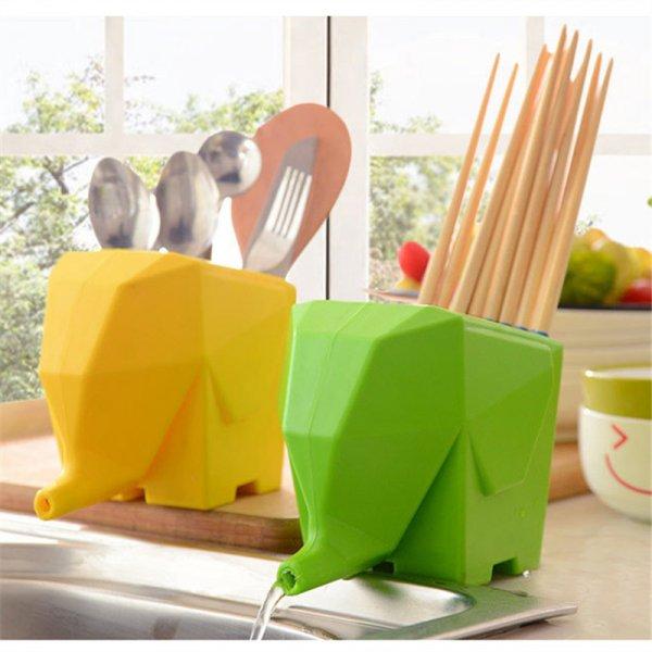 Умная подставка Слоник для ванной и кухни сливает воду (14 x 11 см, 3 цвета)