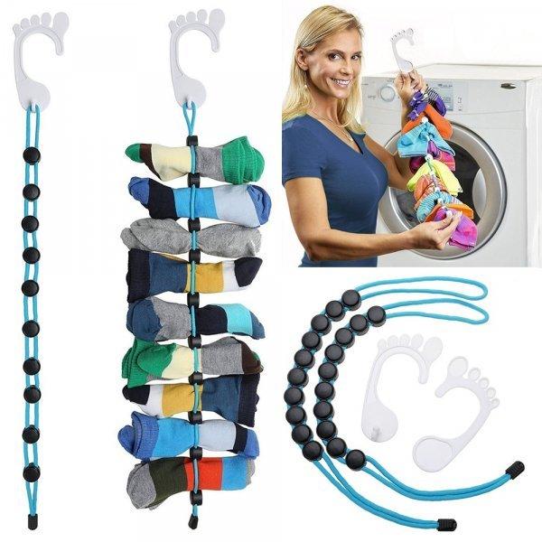 Приспособление для стирки и сушки носков (6 цветов, 2 комплектации)